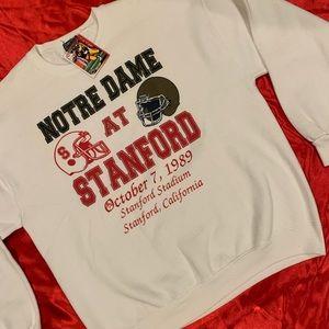 Vintage Notre Dame at Stanford jansport sweater